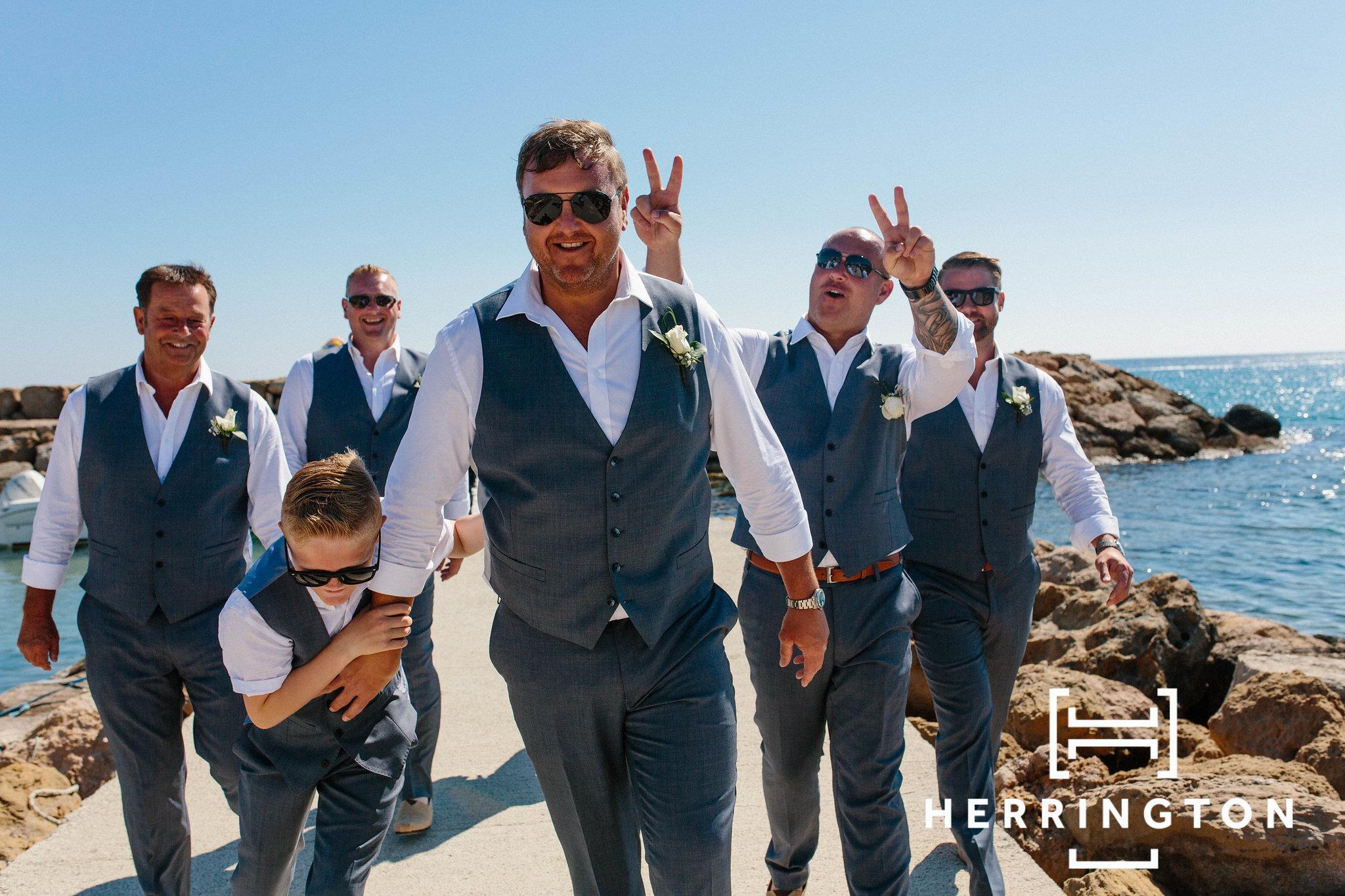 Groomsmen photography wedding photographer Lancashire destination weddings Matt Herrington