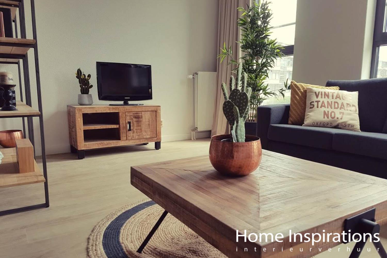 Retro inrichting klein appartement