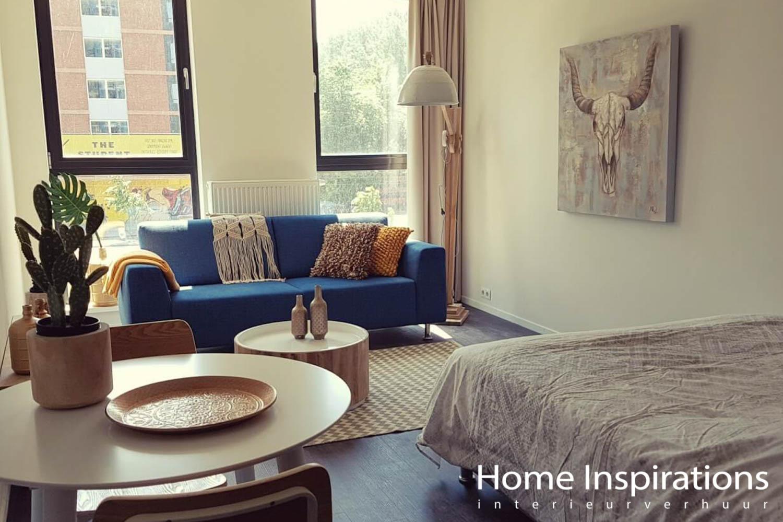 Retro/Urban inrichting klein appartement