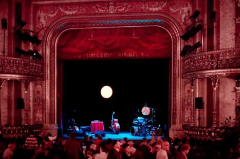 Martina Eisenreich Quartet, stage: contes de lune. Fotography by Mike Meyer.