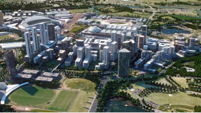 Artist's impression of the redevelopment of olympic park