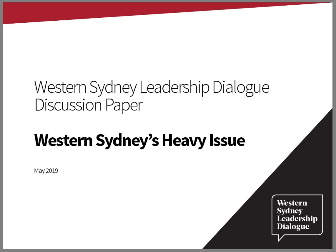 CLICK HERE TO VIEW: Western Sydney's Heavy Issue discussion paper
