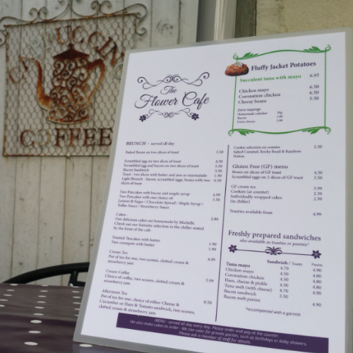 THE #SMARTMENU PROJECT   Our #SmartMenu healthy eating project used nudge designed menus to increase jacket potato sales in a local cafe by over 500% (Plymouth, UK)  The #SmartMenu project also saw more success with 125% sales increase in another local cafe in Plymouth.