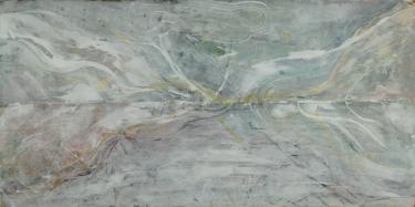 "Deborah Freedman, 2015. Every Breaking Wave 12 , watercolor monoprint 30.5 x 52"""