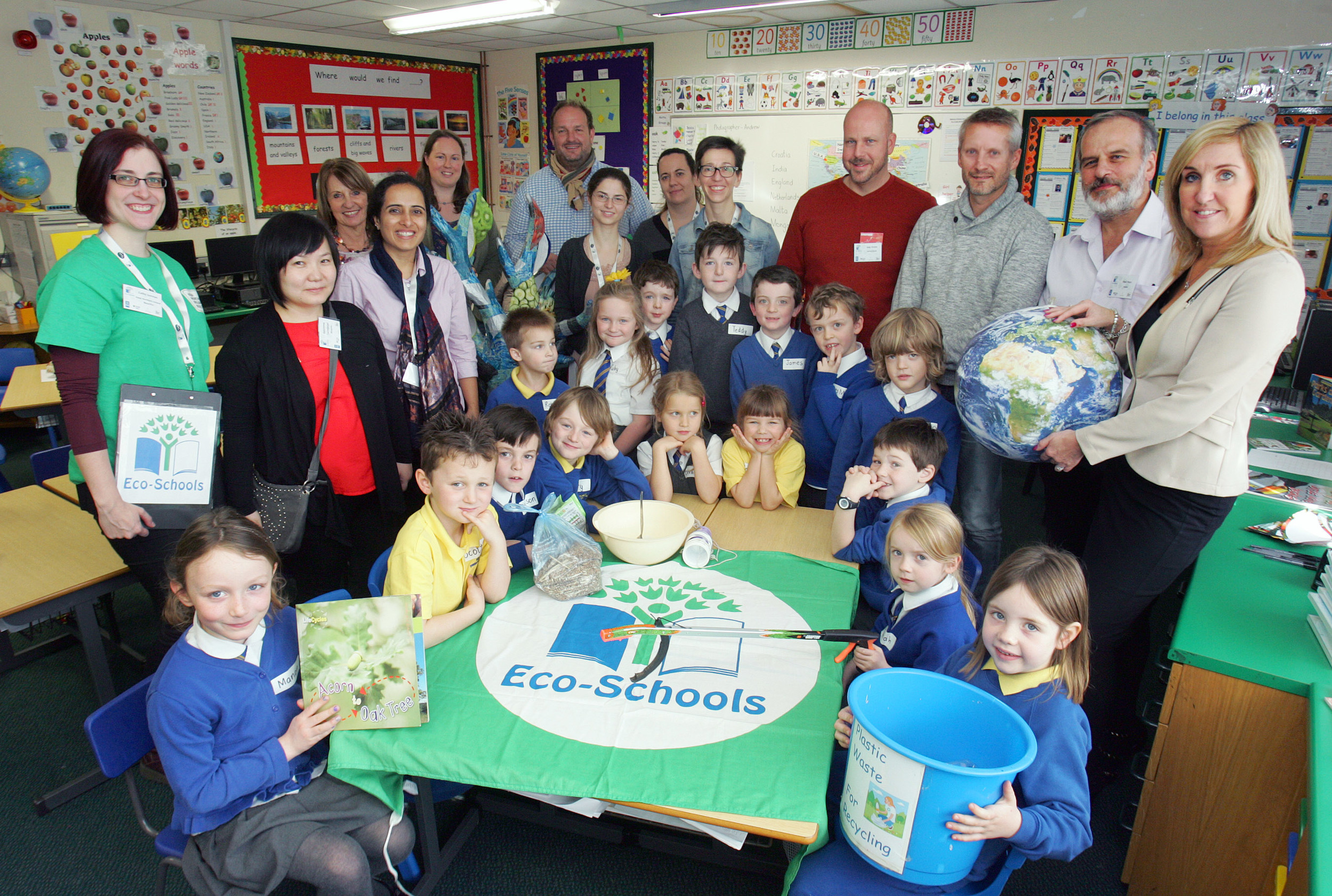 The international visitors enjoyed a trip to local Eco-Schools showcasing best practice including Belmont Primary School in Belfast who impressed with their knowledge of all things Eco.