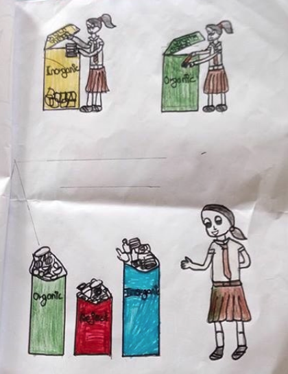 An example of an environmental Diary created by a pupil at Shree Tika Vidyashram School.