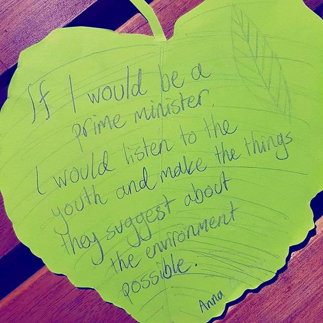 A lovely message from Anna, an Eco Committee member at a school in #Finland ! #ivegotthepower #ecoschools25