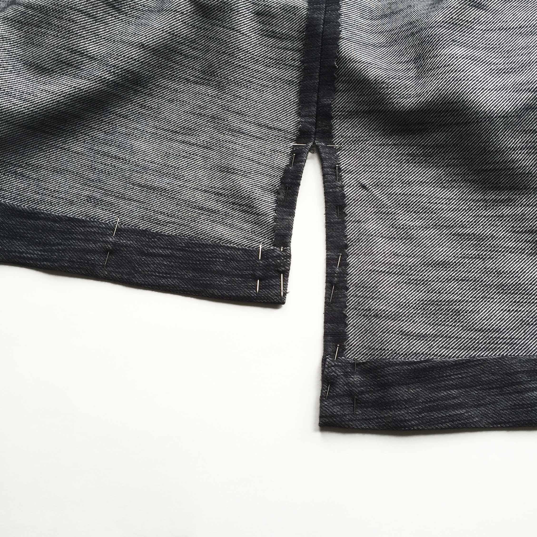 How to sew a side split hem.