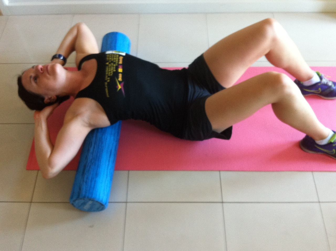 thoracic extension on foam roller rehab trainer gold coast adelaide.JPG