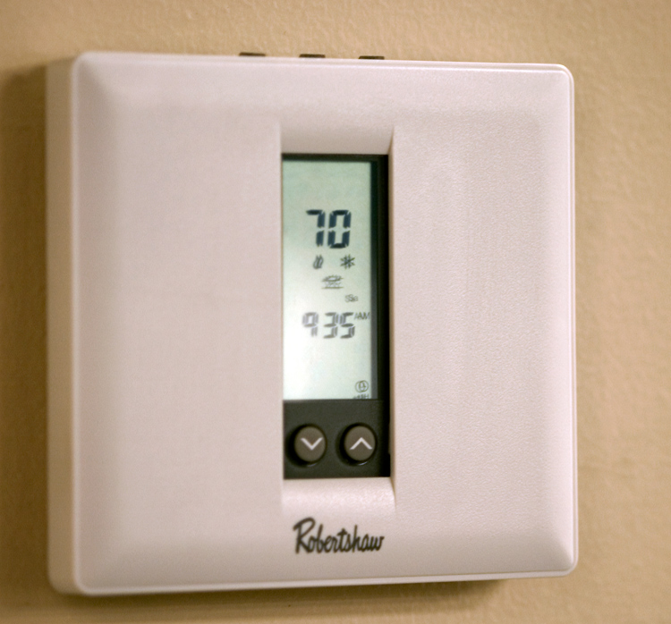 Independent heating and air conditioning in every room.