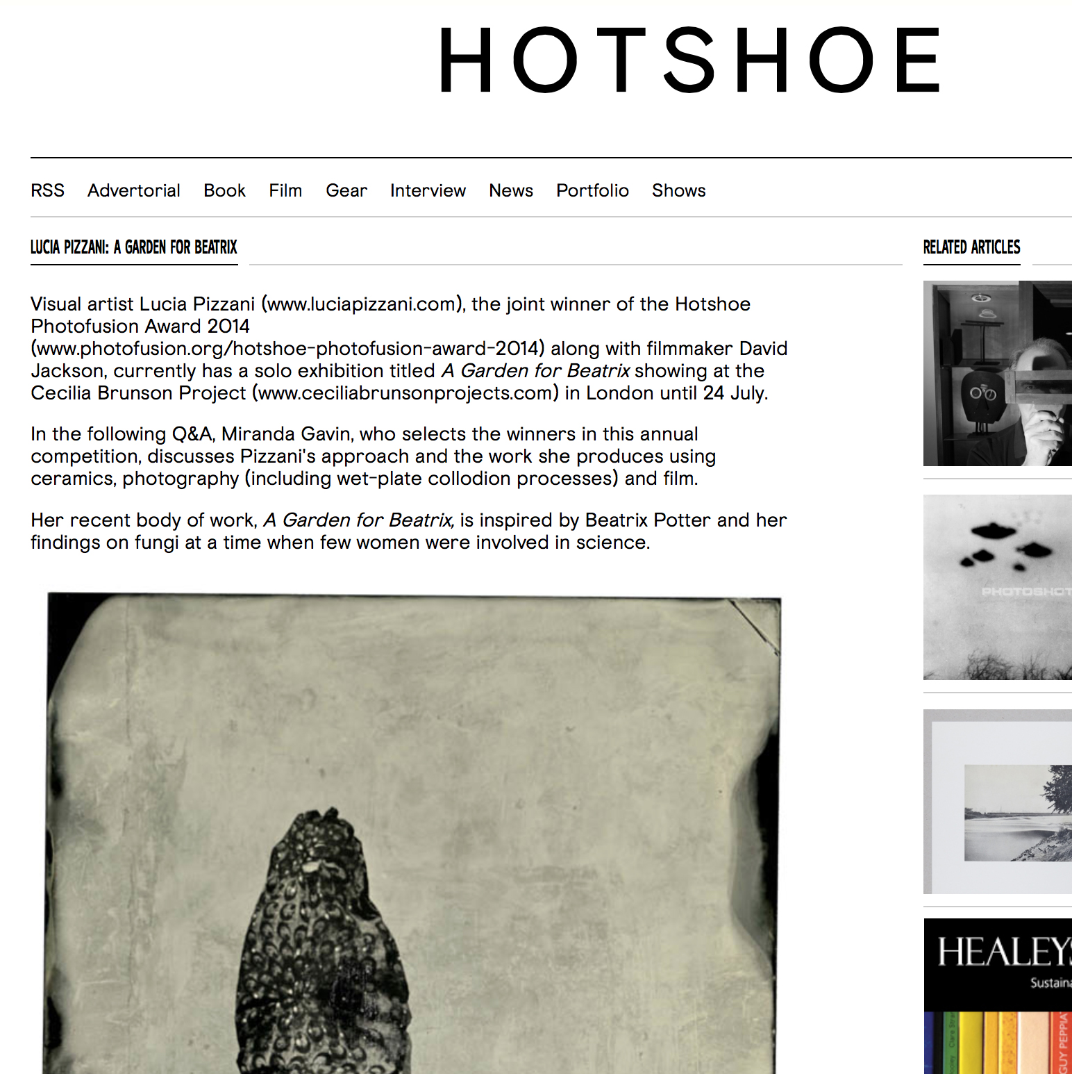 Hotshoe Magazine Blog Q&A with Miranda Gavin