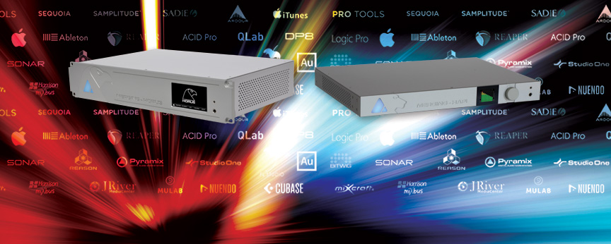HORUS & HAPI  -  Welcome to the world's most popular, mastering-grade networked audio interfaces, combining Swiss-built technology with industry-tested AES67 and RAVENNA connectivity.