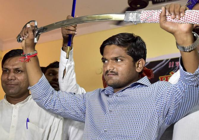 Hardik Patel, the self declared leader of the Patel protests.