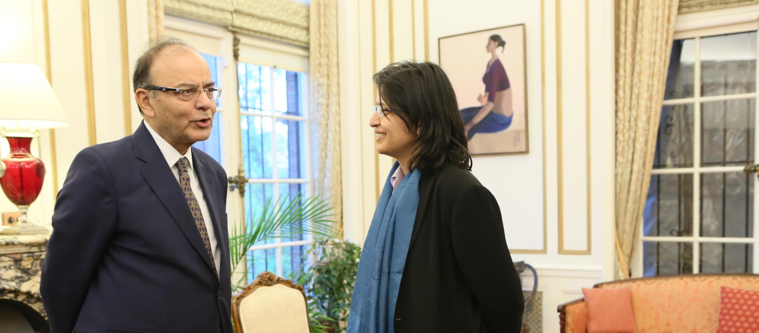 Arun Jaitley and Aparna Pande.JPG