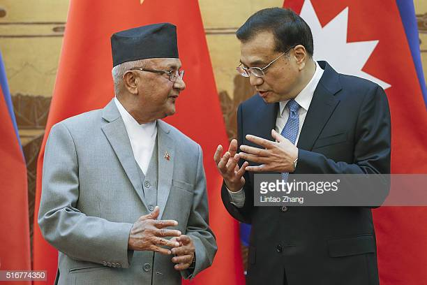 Nepal Prime Minister Khadga Prasad Oli on a visit to China  Photo by Lintao Zhang/Getty Images News / Getty Images