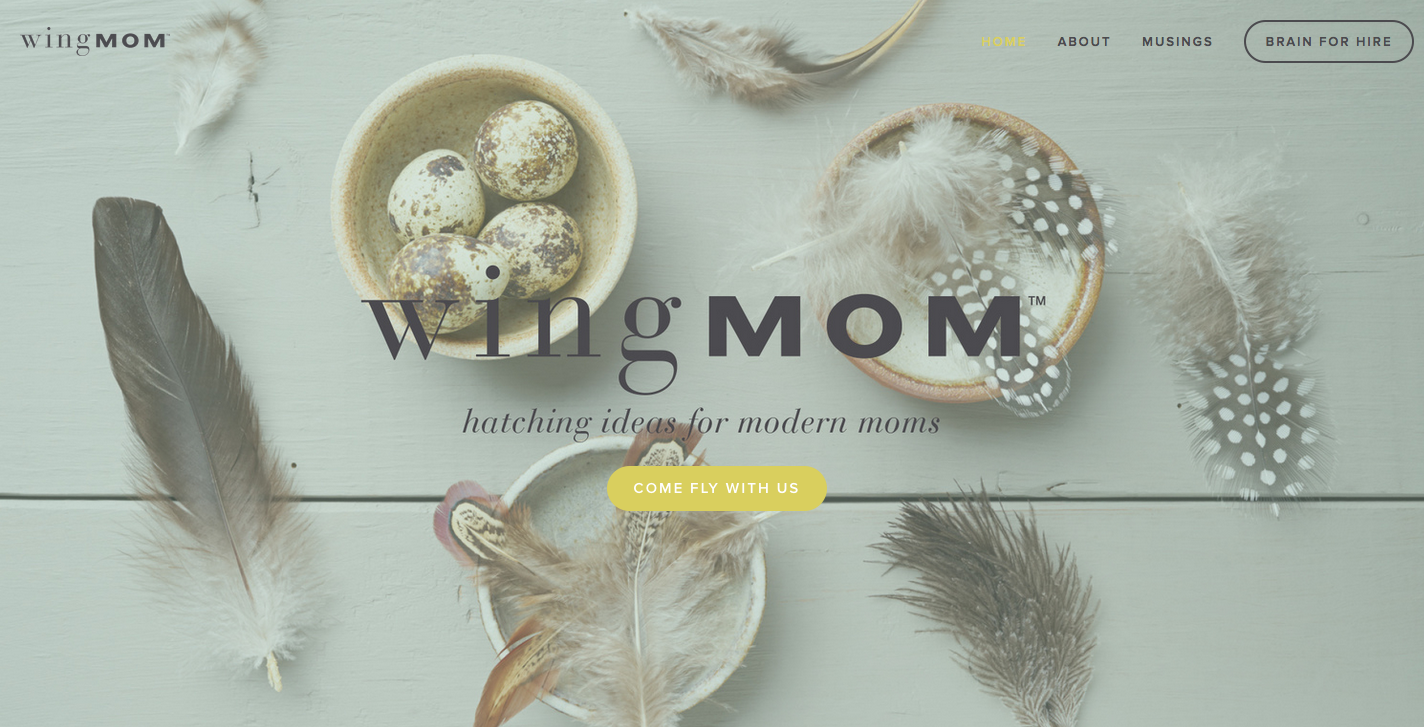 I recently completed consulting for this micro site design and re-brand for client Amy Walton Groome, founder of Project Wingmom. The purpose of the site was for email capture and general brochure information for her first big speaking gig.  http://www.projectwingmom.com/