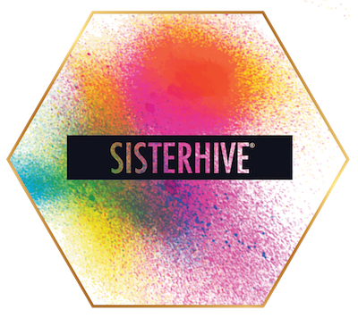 Sisterhive logo rainbow with border small.png