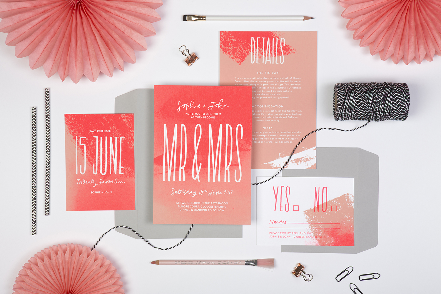 cool wedding invites for the stylish bride