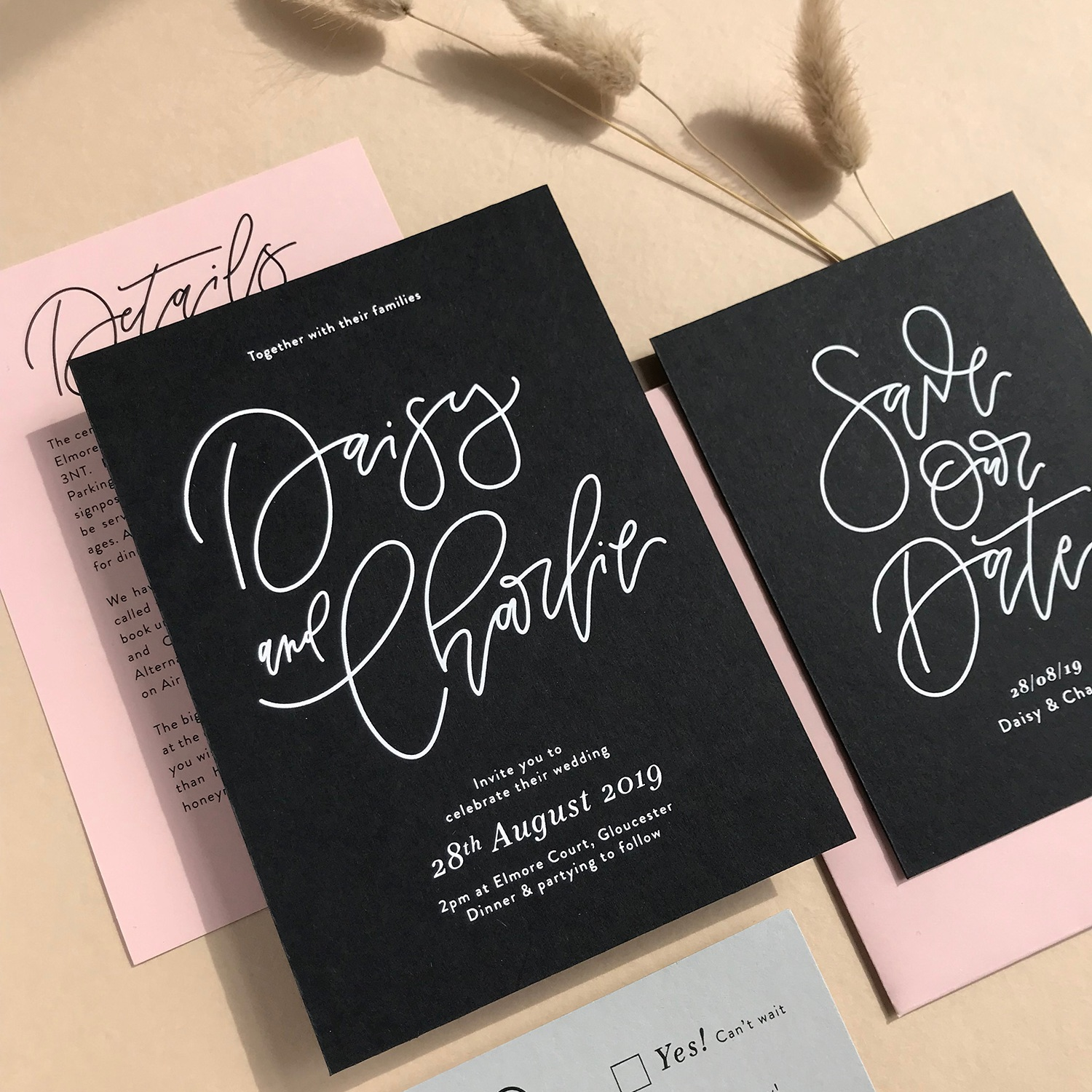 modern calligraphy wedding design