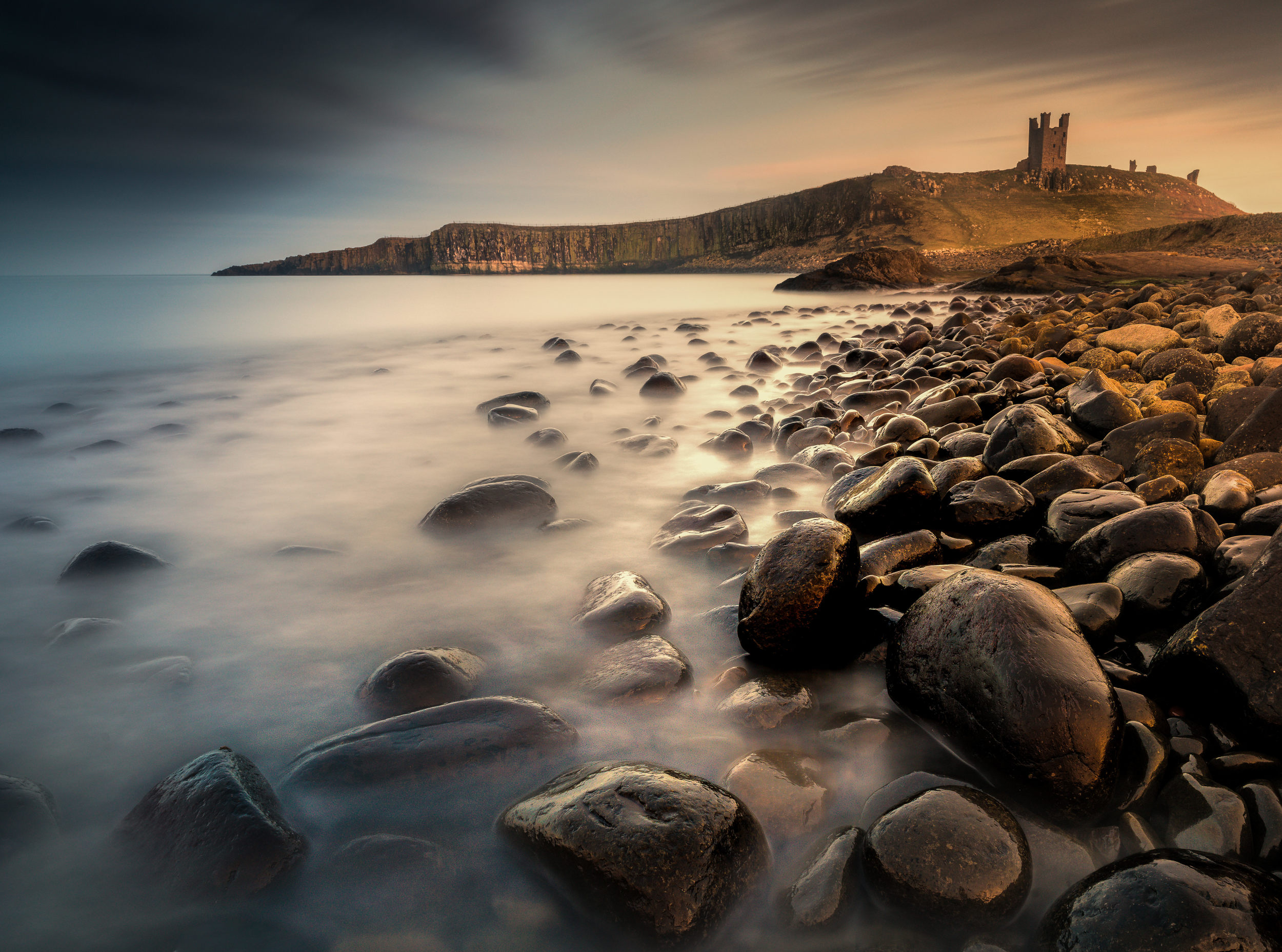 Last light at Dustanbugh | Northumberland