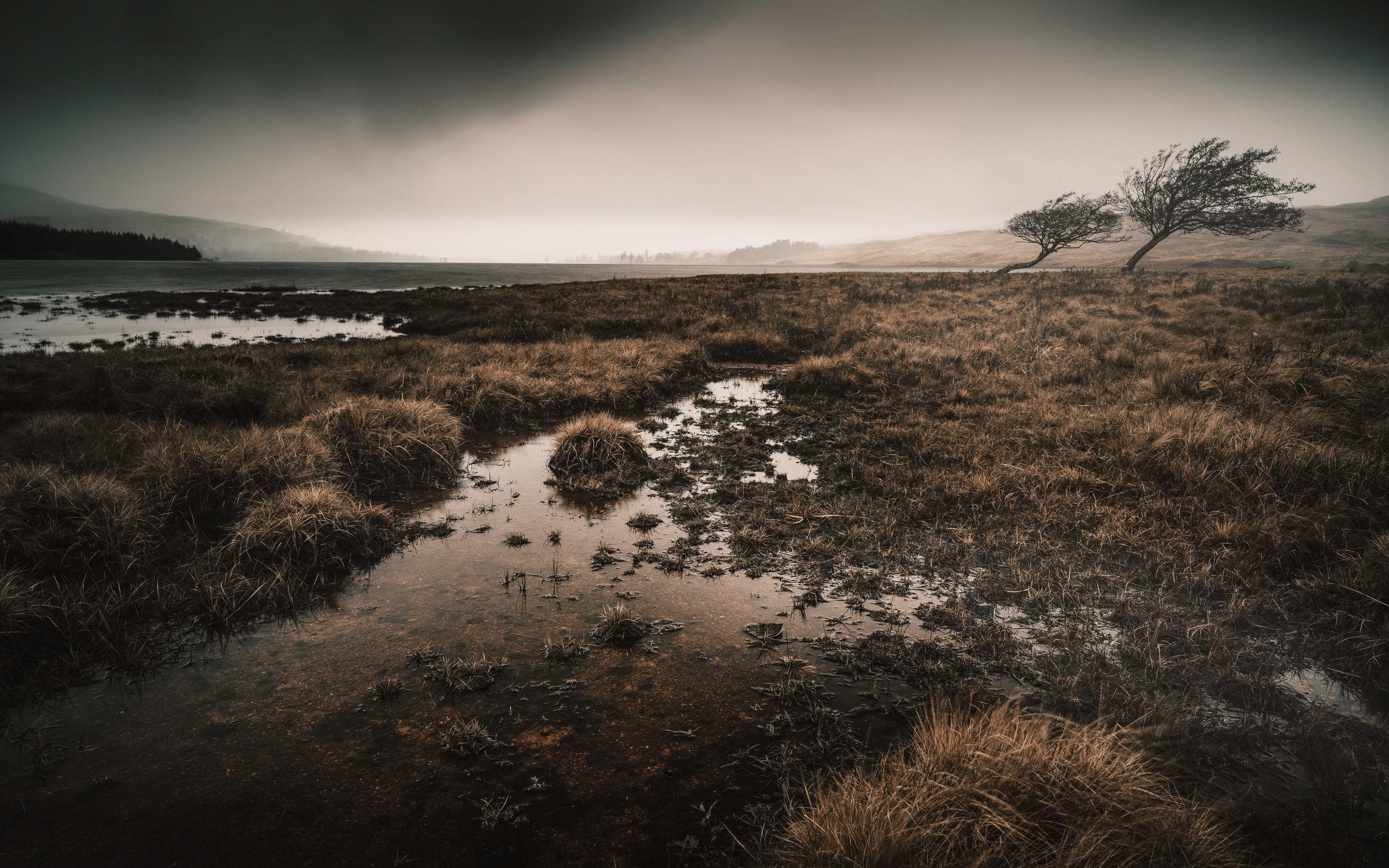 Late winter at Loch Tulla, Scottish Highlands