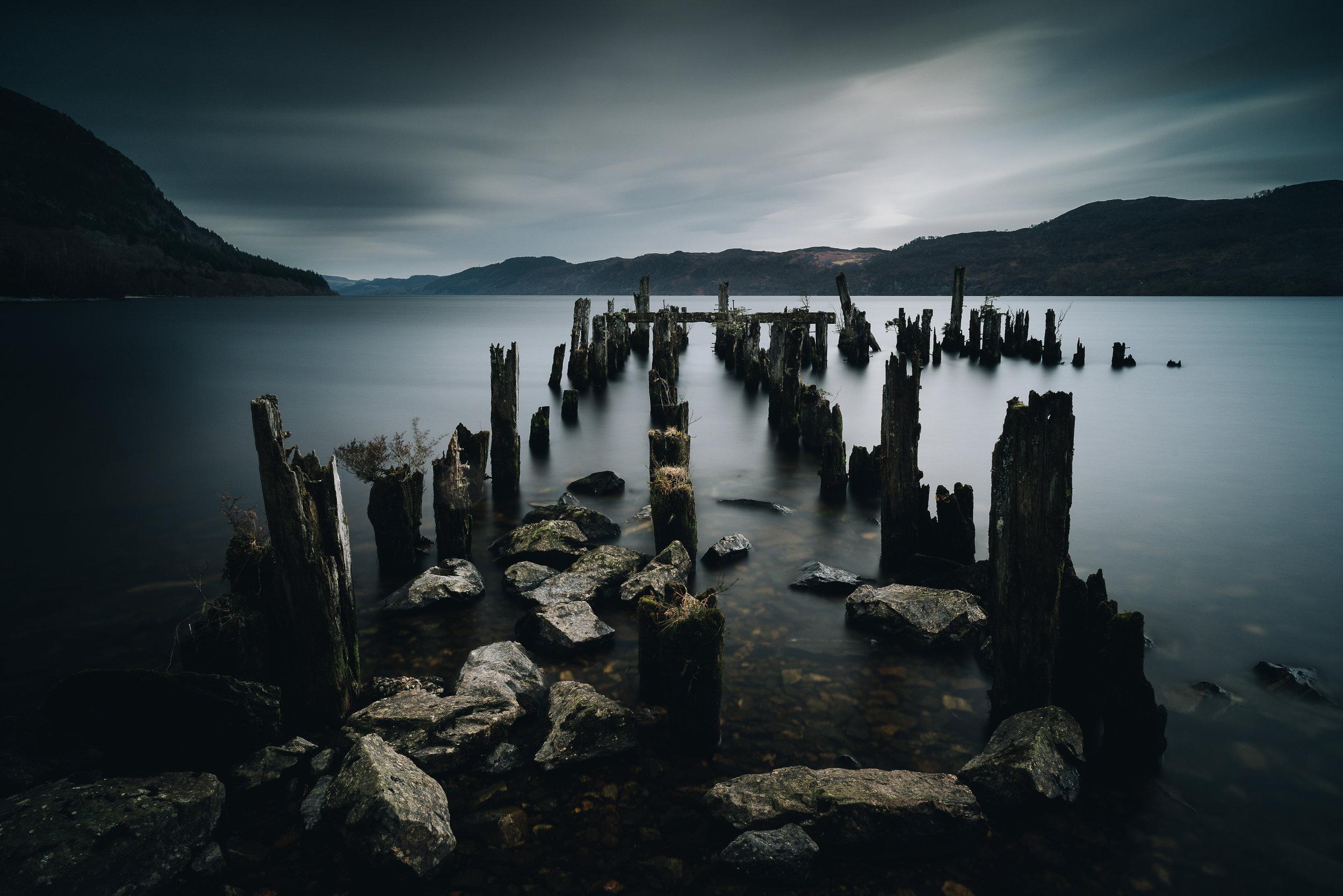 Loch Ness jetty, Scottish Highlands
