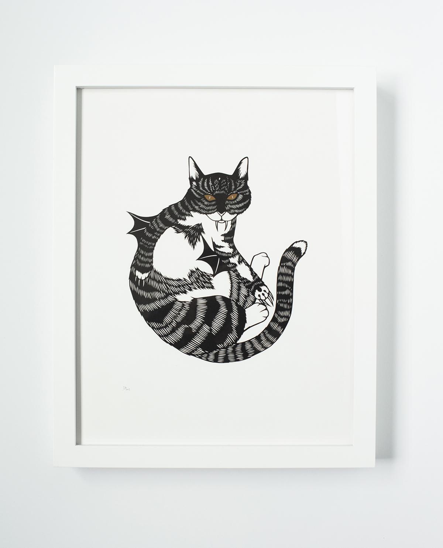 Feline unfamiliar_framedsm.jpg