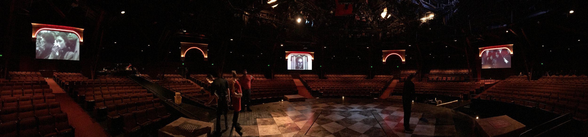 "Panoramic Photo;  ""Requiem for Evita "" Photo Credit: Zabet during preshow"