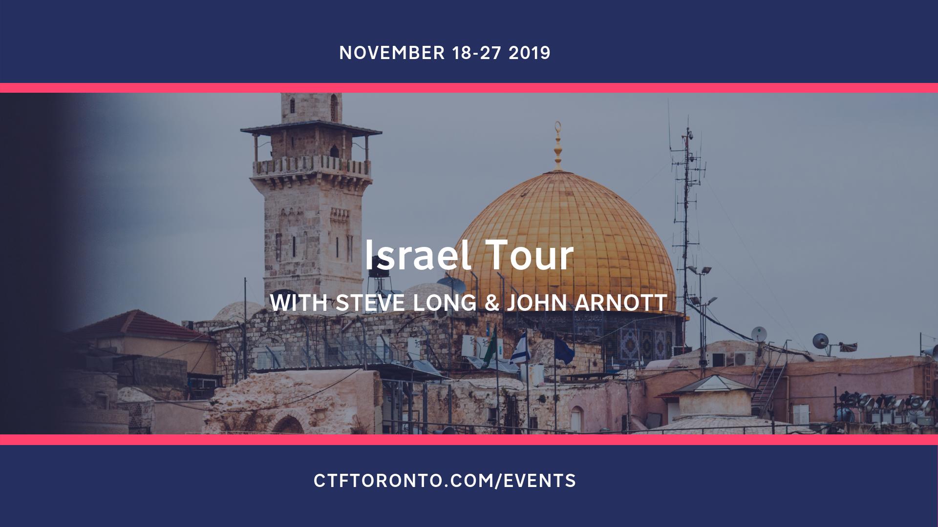 Israel Tour john Arnott