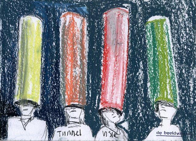 'Tunnelvisie' #debeeldvormers #ikzieikziewatjijnietziet #horizon #tunnelvisie #gekleurd #watisjouwvisie #toekomst