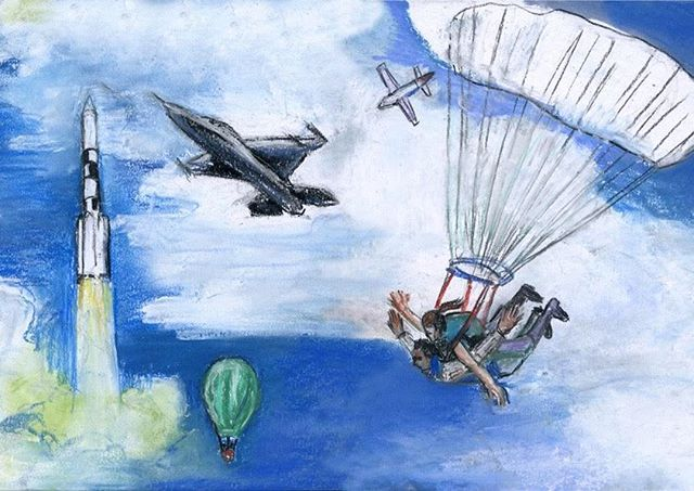 Drawing for our #kpmg #notebook and #inspirationbook #debeeldvormers #pastelonpaper #artpartner #flyinghighinthesky #freedom #flyingtogether #alldirections #missionpossible