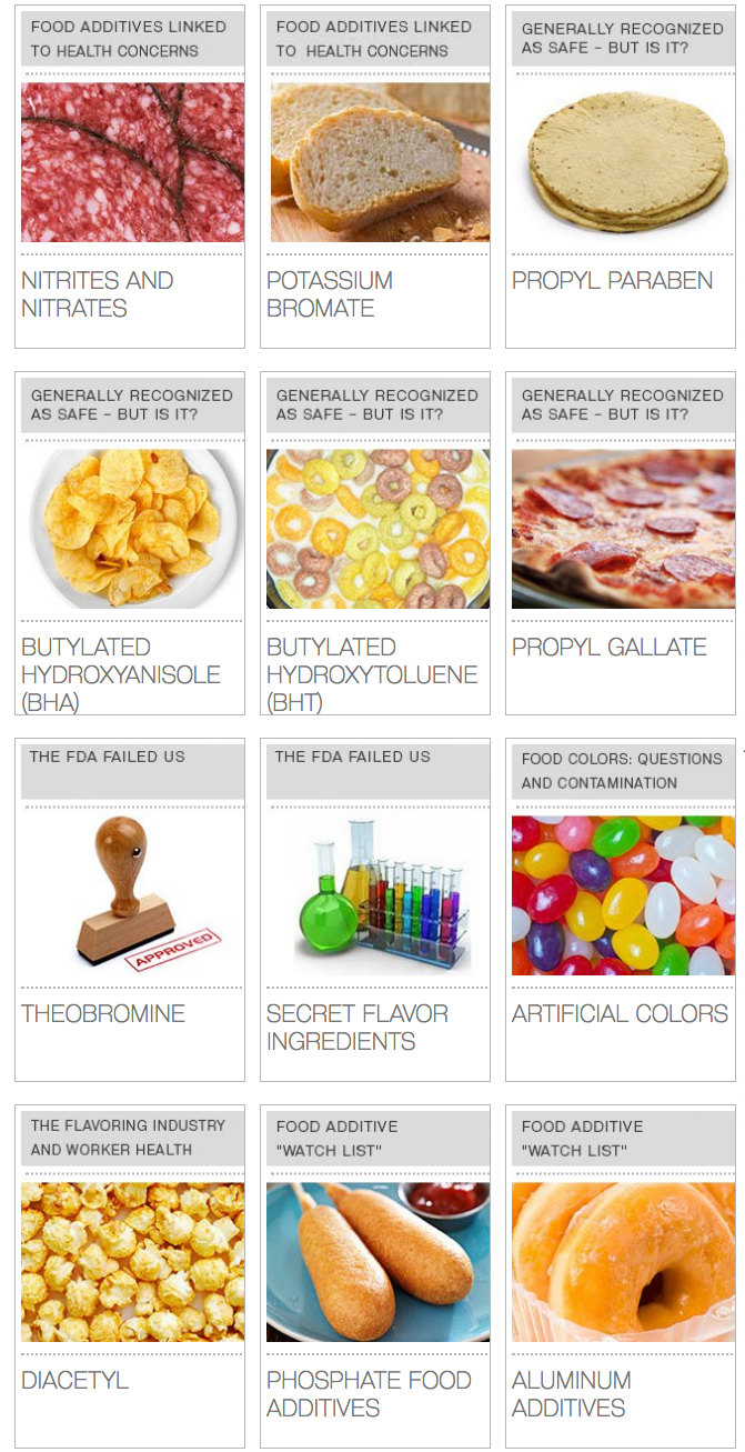 EWG's Dirty Dozen: Food Additives