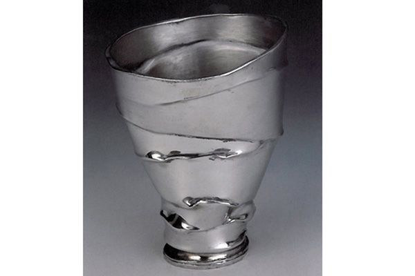 Kiddush Cup  , 1995, pewter, 4x3.5x3.5 inches