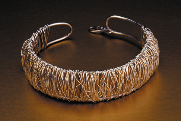 Choker  , 1985, fine and sterling silver, 1.5x5.5x5 inches