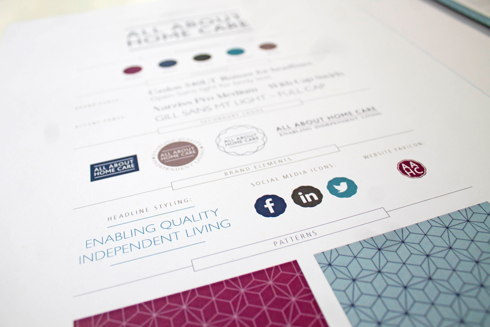 All About Home Care branding and logo design by Ditto Creative, branding in Kent