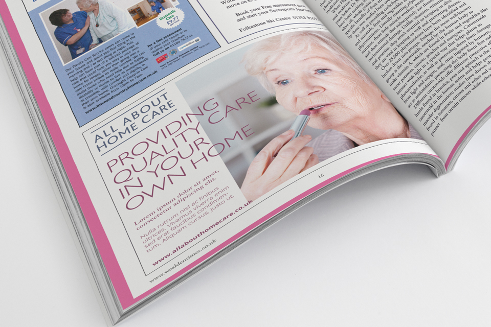 All About Home Care, branding and logo design by Ditto Creative, branding in Kent