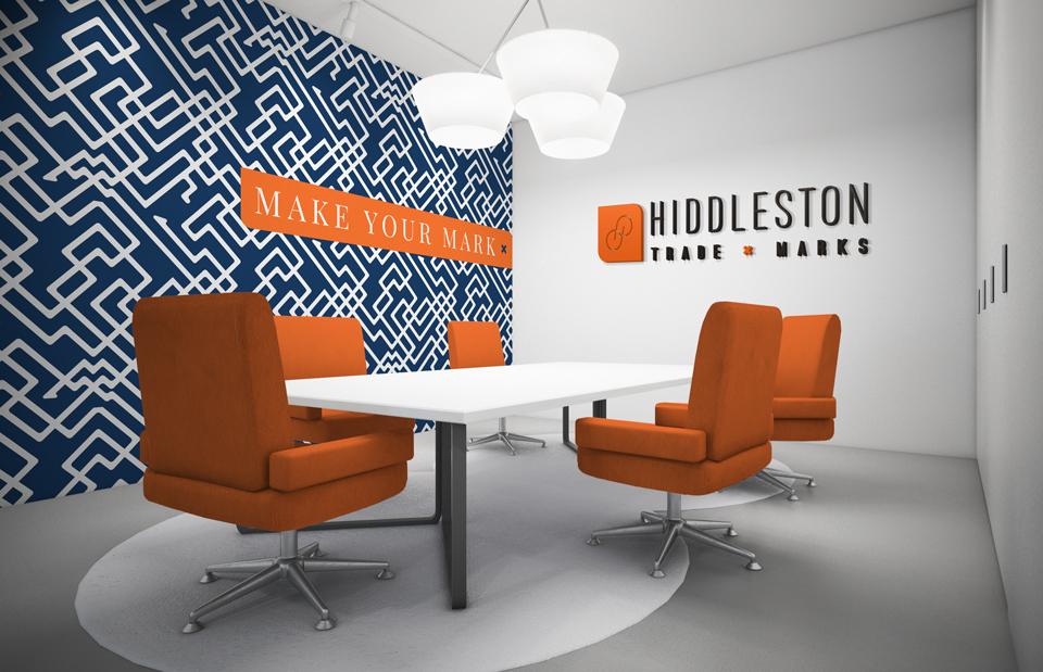 Hiddleston Trade Marks, branding and interior design concept by Ditto Creative, branding kent