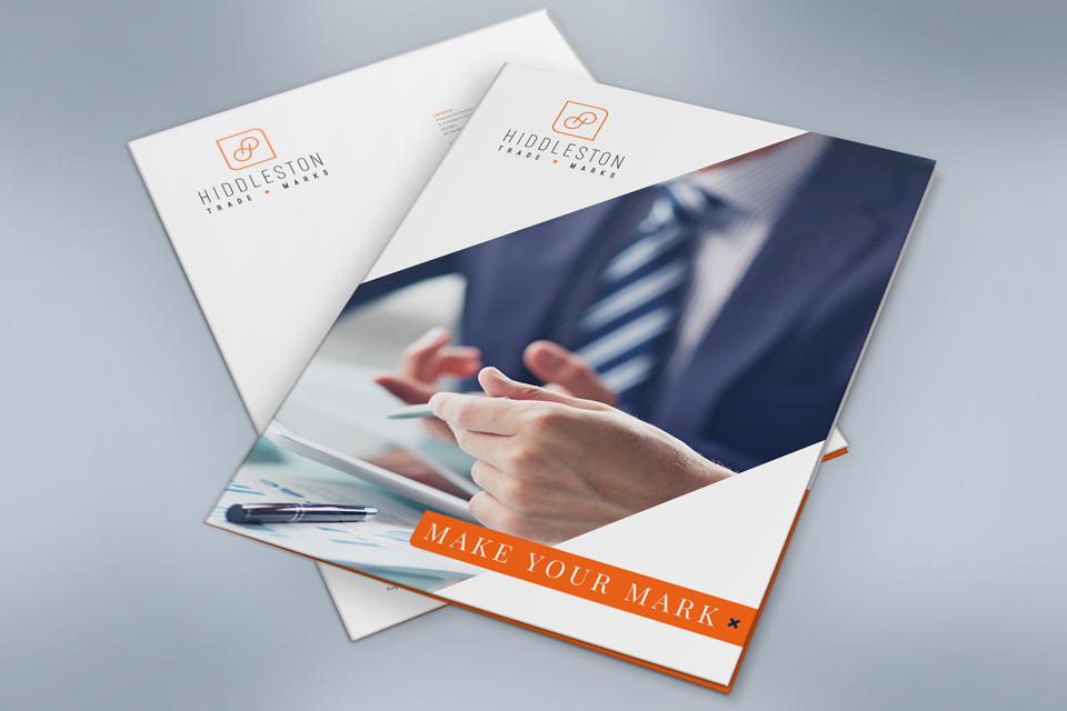 Hiddleston Trade Marks, brochure design by Ditto Creative, branding in Kent