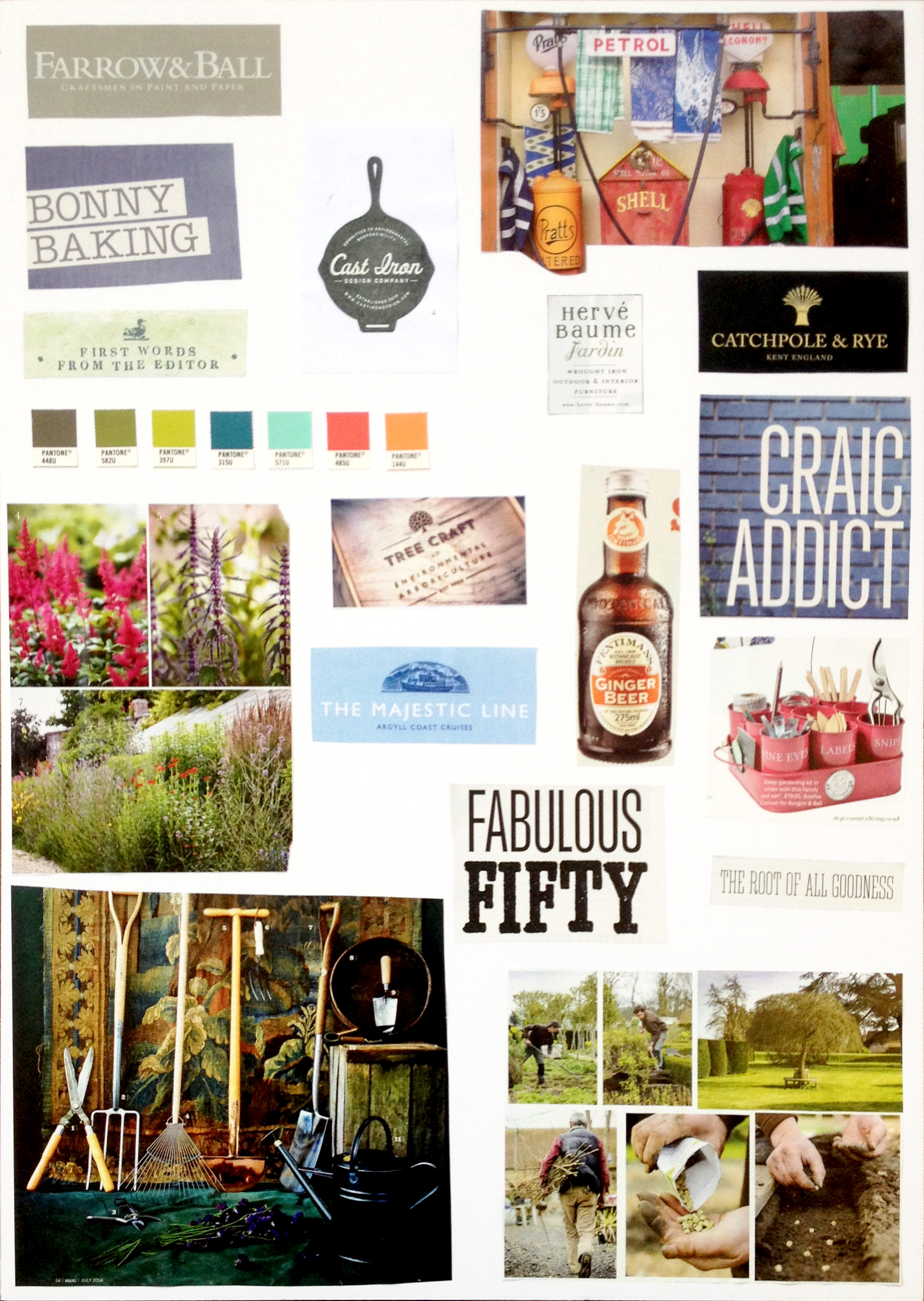 Branding inspiration board by Ditto Creative
