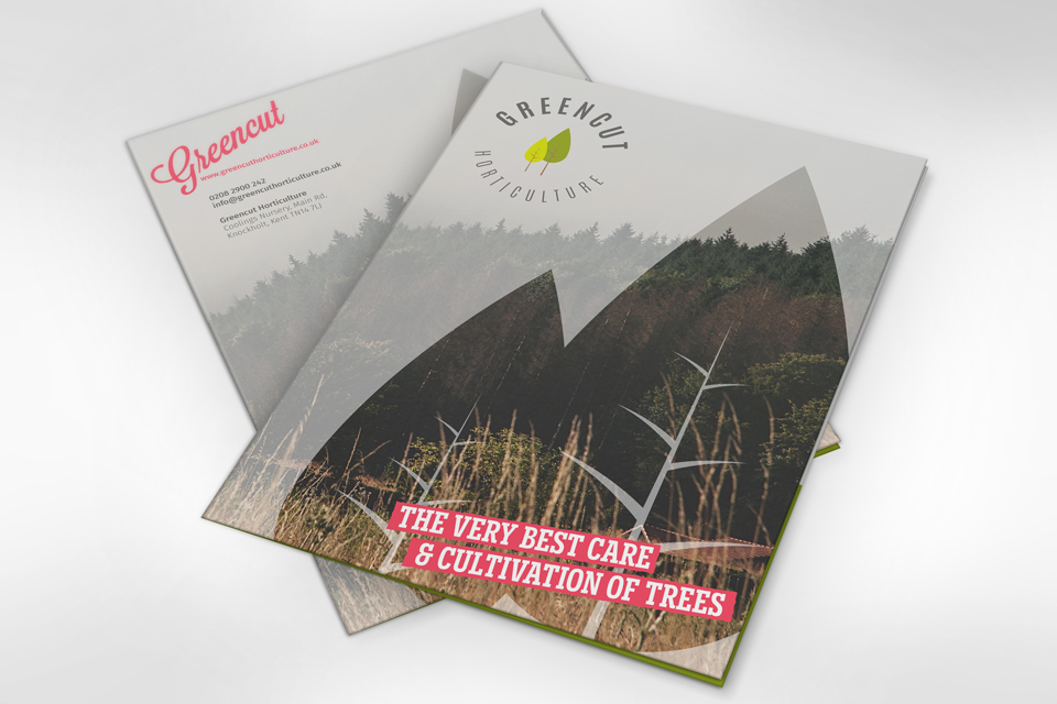 GreenCut Horticulture branding and brochure design by Ditto Creative, Kent