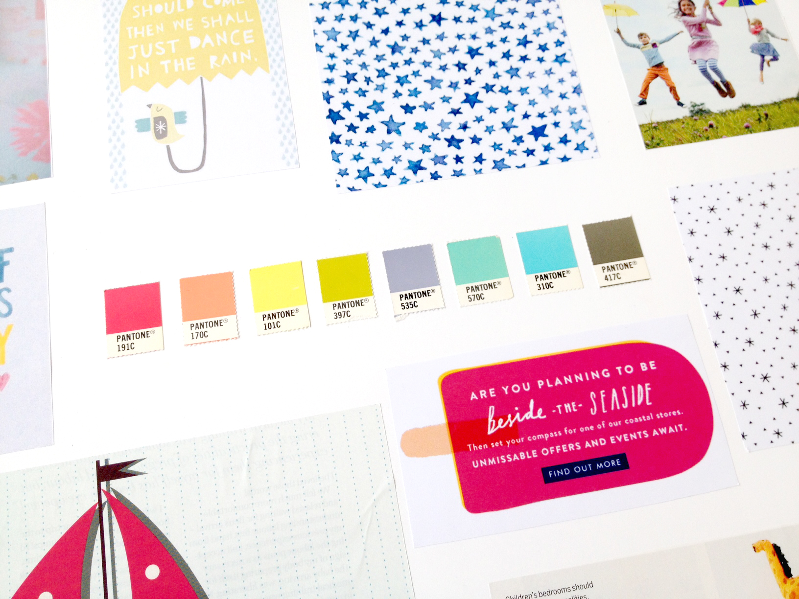 Funky Monkey Keyboard Classes colour palette by Ditto Creative Brand Stylists, branding Kent