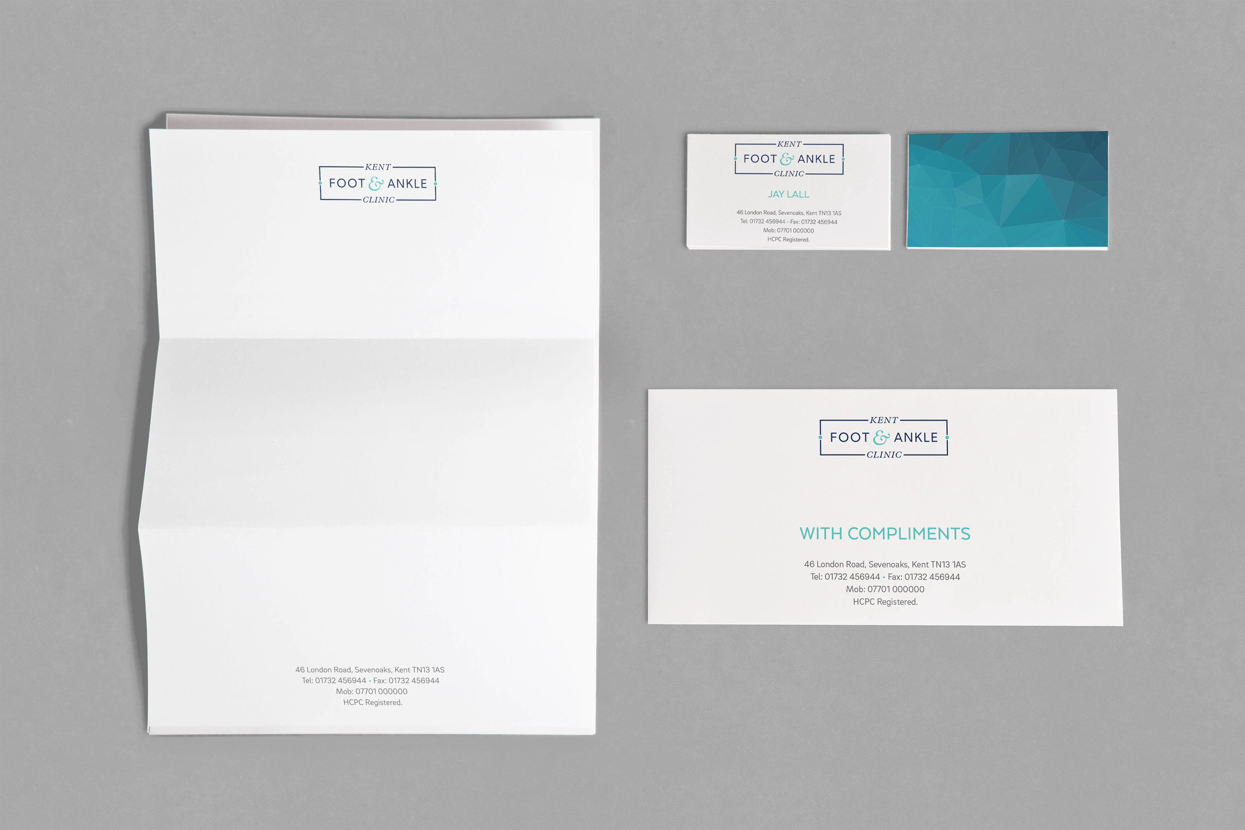 Kent Foot & Ankle Clinic branding by Ditto Creative, branding and logo design in Kent