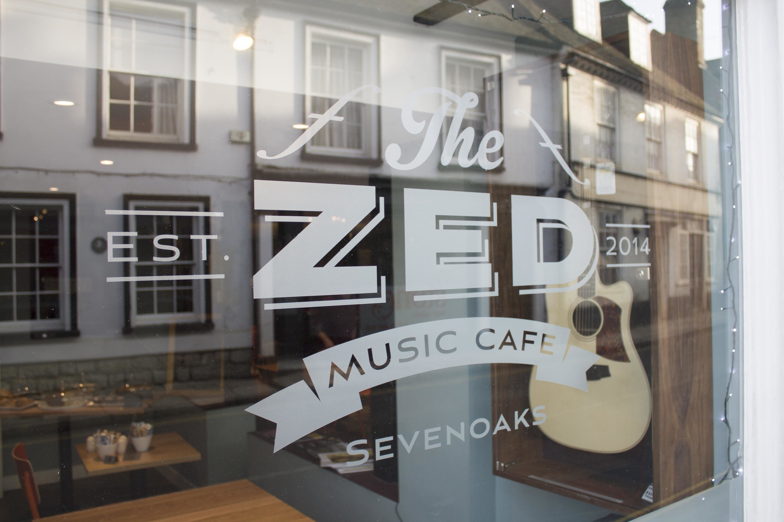 Zed Music Cafe Sevenoaks logo design and branding by Ditto branding agency, Kent