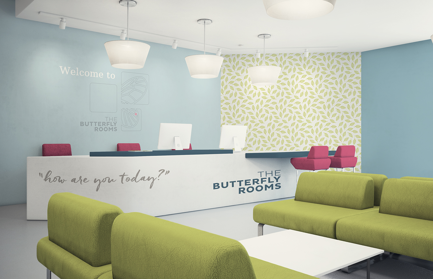 The Butterfly Rooms logo design and brand design by Ditto Creative, branding agency Kent
