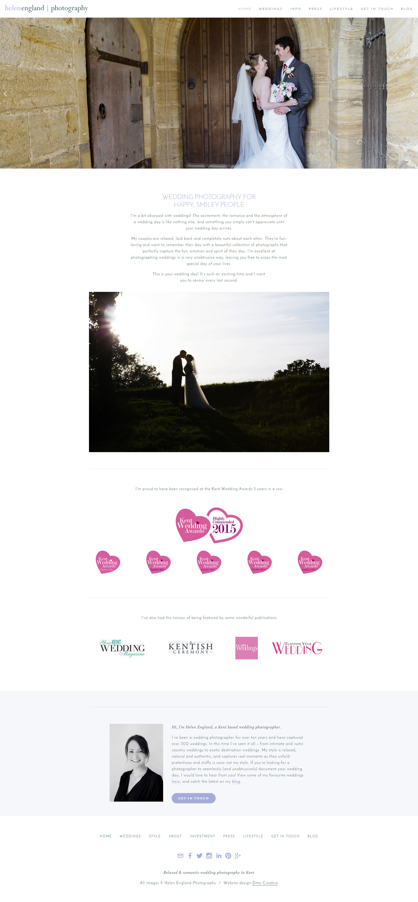 Helen England Photography website by Ditto Creative