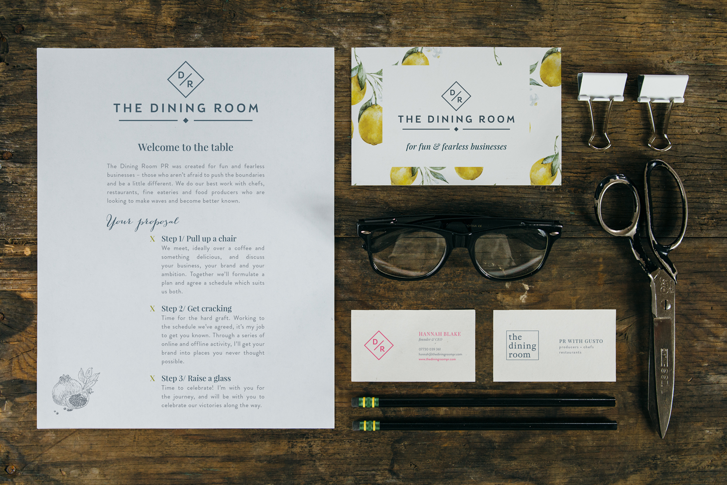 The Dining Room PR, Tunbridge Wells PR Agency, branding and logo design by Ditto Creative, branding agency Kent