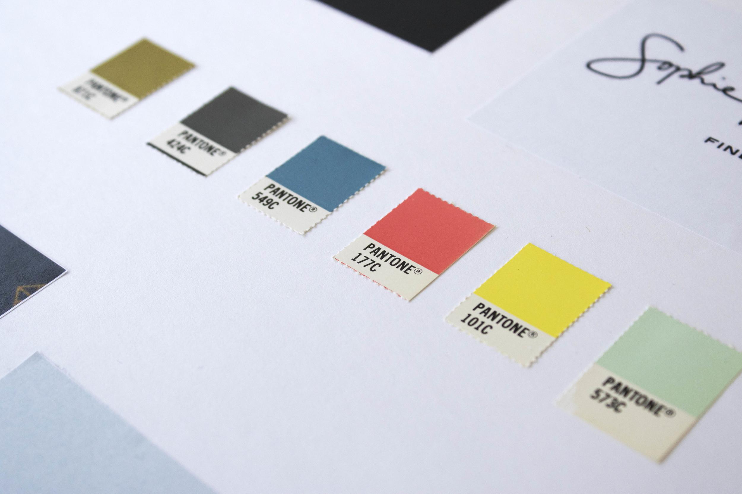 Ditto Creative vision board, branding agency London