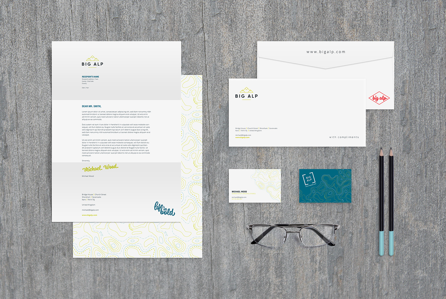 Branding and logo design for Big Alp by Ditto Creative branding agency Kent