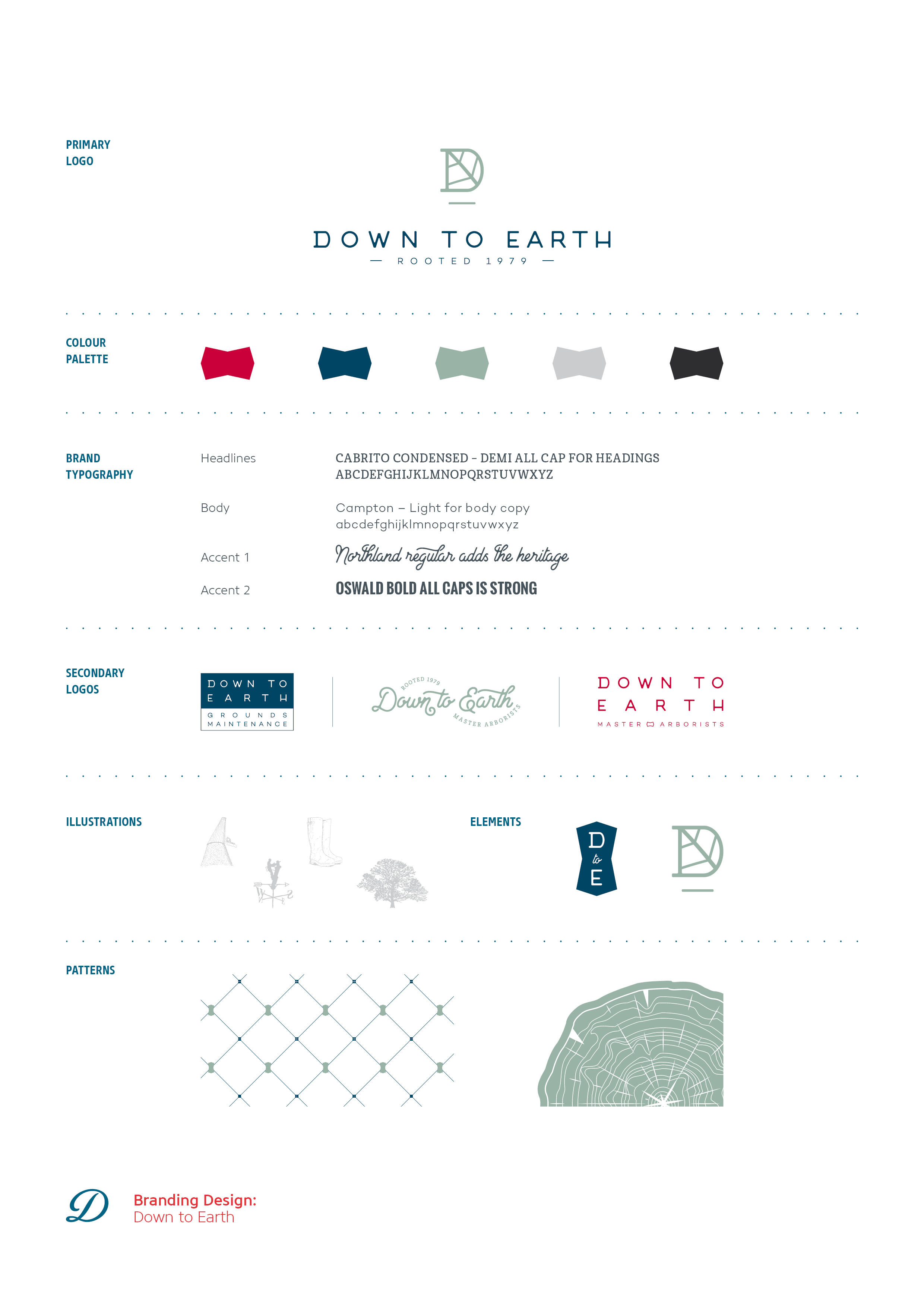 Down to Earth, tree surgery Kent, logo design, branding and brand identity by Ditto Creative, branding agency Kent