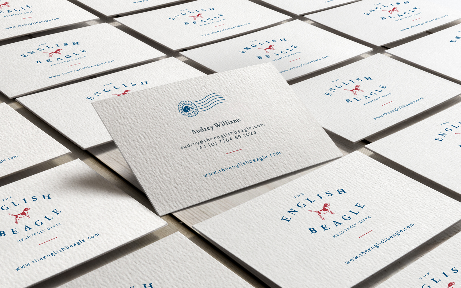 The English Beagle branding and logo design by Ditto Creative, boutique branding agency in Kent